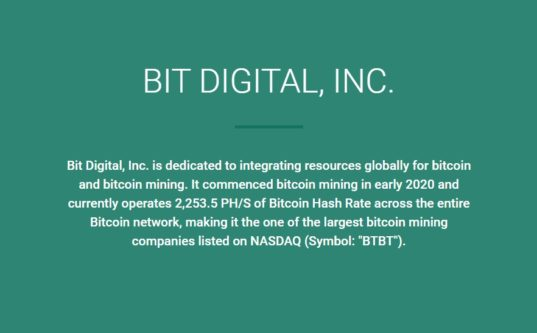 BIT DIGITAL, INC.